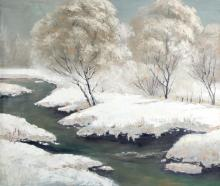 A FINE OIL PAINTING ATTRIBUTED TO LIU HUI