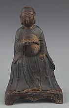 A LIFE LIKE BRONZE MODEL OF EMPEROR