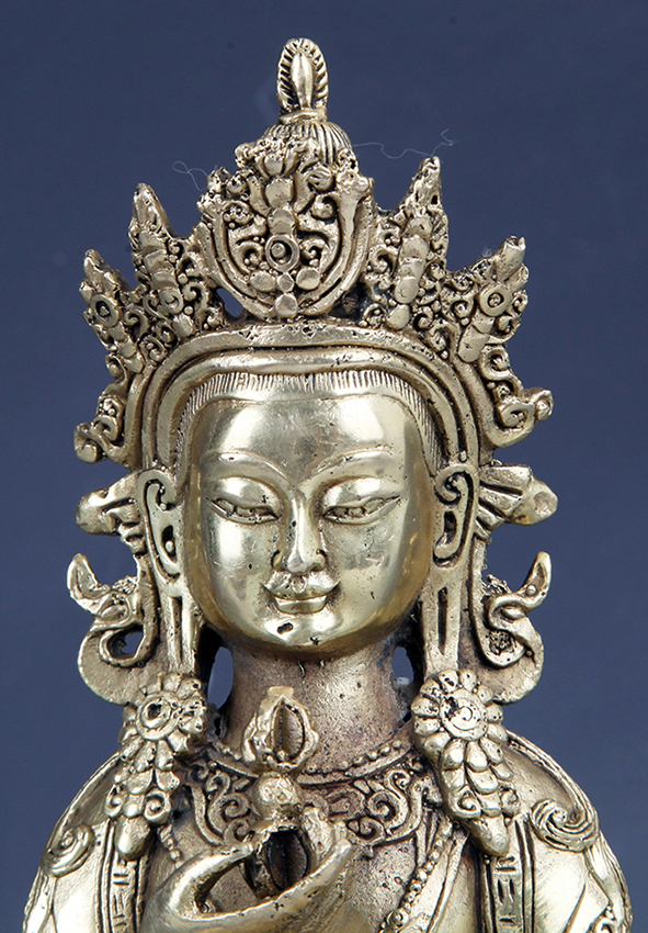 avukana buddha statue a finely carved tibetan bronze buddha model 10068
