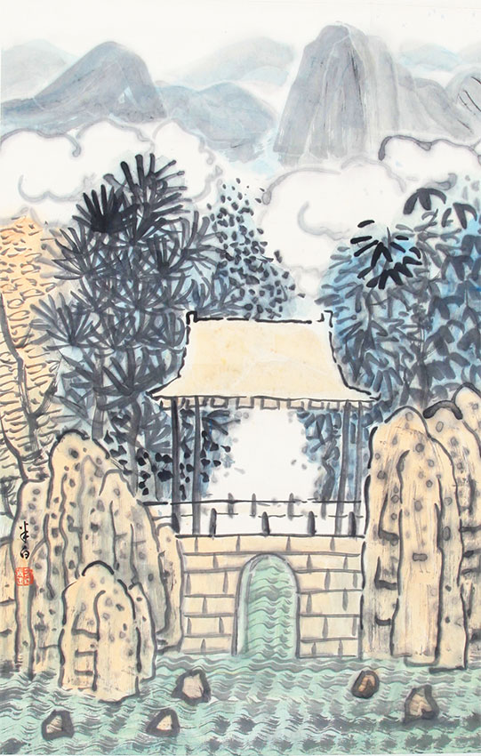 A ZHANG JIE CHINESE PAINTING, ATTRIBUTED TO