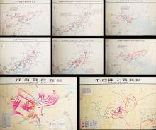 Group of Seven Old Chinese Map