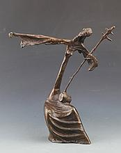 A GRIL PERFORMING ER HU BRONZE DECOREATION