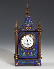 A FINELY DESIGN CLOISONNÉ ENAMEL BRONZE COLOCK