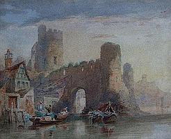 "Samuel Austin O.W.S. (1796-1834), ""A Castle on the"