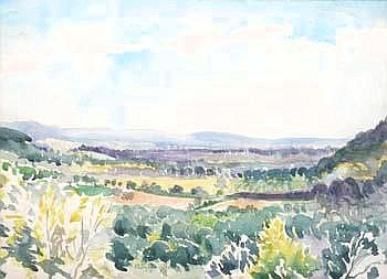 Adrian Bury, 'View from Marley Height, Surrey', watercolour