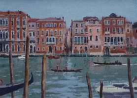 "Ronald Morgan R.B.A., R.O.I. (b.1936), ""Boats on"