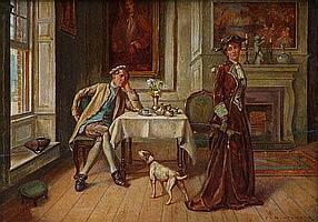 James D. Aylward (fl.1895-1917), Interior scene