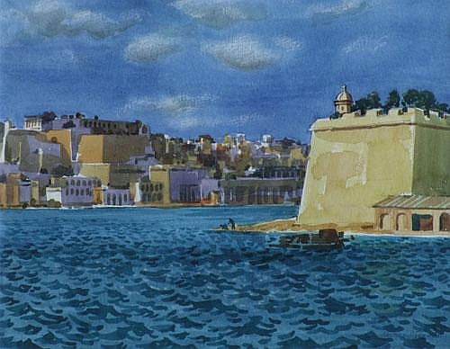 Norman C. Jaques (1922-), Malta, signed and