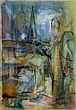 Edgar Hubert (1906-1985), Figures in a landscape,, Edgar Hubert, Click for value