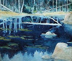 Leon Victor Solon (1872-1957), Lake view, signed,