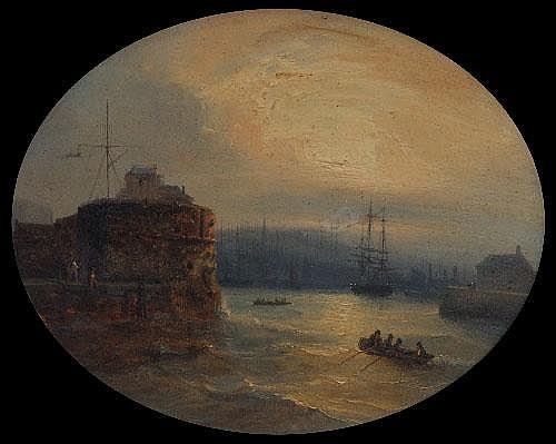 Jean-Marie Jugelet (1805-1875), Harbour scene at