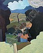 Norman C. Jaques (1922-), Rural view, oil on, Norman Jaques, Click for value