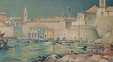 """Rowland Spencer Ford (1902-1990), """"Dubrovnik Inner"""