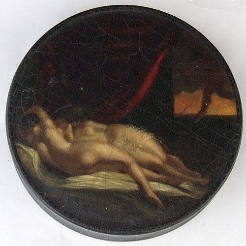 Samuel Raven (1775-1847) papier mache circular