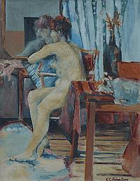Elizabeth Campbell Fisher Clay (1871-1959), Nude,