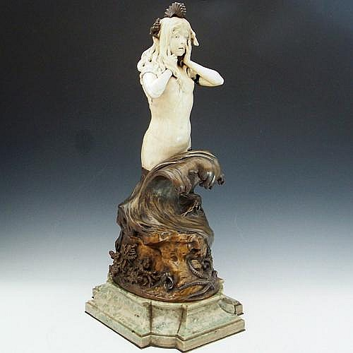 Walter Winans (1852 - 1920) Bronze and ivory