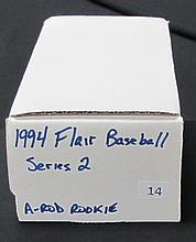 1994 Flair Baseball Set with Arod Rookie