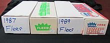 1987-88-89-90 Fleer Baseball Sets