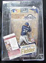 2010 Prince Fielder McFarlane Statue Unopened Autographed with JSA COA