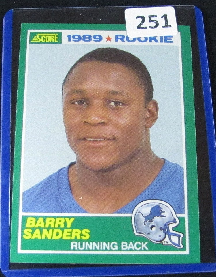 1989 Score Fb Barry Sanders Rc