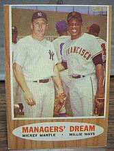 1962 topps #18 Mantle/Mays