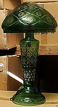 Gorgeaous Green Turkey Crystal Mushroom Lamp