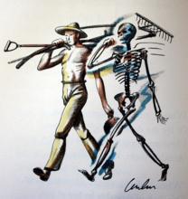 Original Signed Lithograph by Artist AE Housman