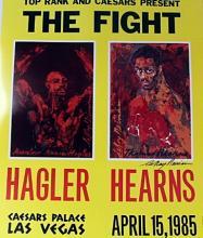 HAGLER VS. HEARNS BY LEROY NEIMAN