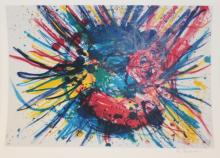 Colorful Limited Edition By artist Sam Francis.