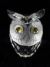 SWAROVSKI CRYSTAL OWL, WITH ETCHED MARK, APPROX 2.75