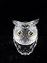 SWAROVSKI CRYSTAL OWL, WITH ETCHED MARK, APPROX 1.75
