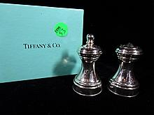 TIFFANY & CO. SALT & PEPPER SHAKERS, MADE IN ITALY, WITH TIFFANY BOX, SKU7496.53