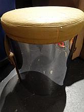 MODERN DESIGN CHROME STOOL, UPHOLSTERED TOP, SKU8043.1