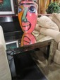 MODERN DESIGN MIRRORED TABLE, EXCELLENT CONDITION, APPROX 30