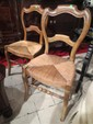 PAIR 18TH CENTURY FRENCH WALNUT CHAIRS, RUSH SEATS, VERY GOOD CONDITION