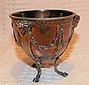 A Victorian Silver Sugar Bowl having rams head, swag and reeded d