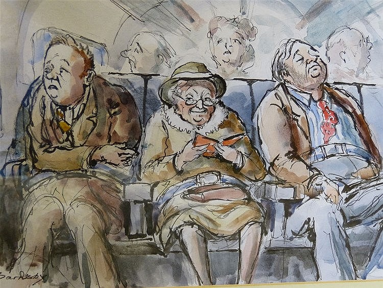 Geoff Barnsby Pen and Watercolour Sketch
