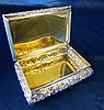 Nathaniel Mills, Early Victorian Silver Rectangular Snuff Box wit