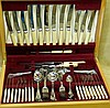 A Silver Plated Flatware Service in fitted walnut case