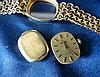 An Omega De Ville Ladies 18ct Gold Wrist Watch having matching st