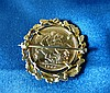 A Victorian Gold Sovereign 1900 in gold removable brooch/pendant