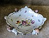 A Modern Dresden Oval Scalloped Fruit Bowl with 4 supports in for