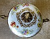 A Continental Meissen Style Porcelain and Gilt Metal Bulbous 2-Ha
