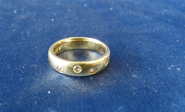 A 925 Silver Gilt Ring set with 4 stones