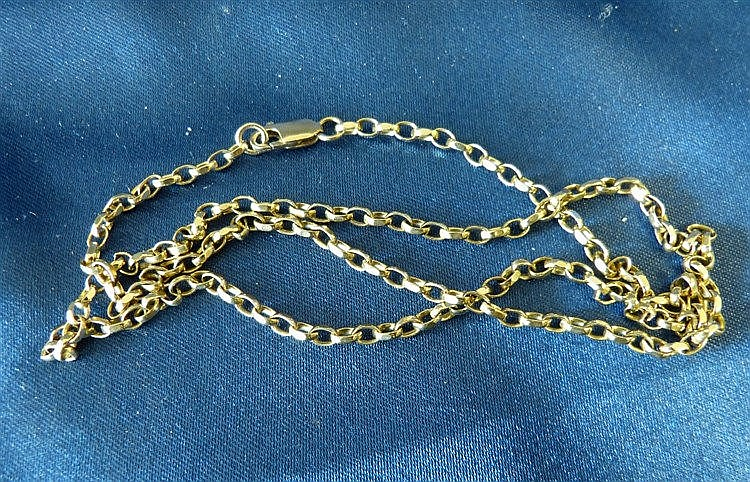 A Gold Linked Chain, 55cm long, 11.1gms
