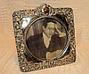 An Edward VII Square Freestanding Silver Mounted Photograph Frame