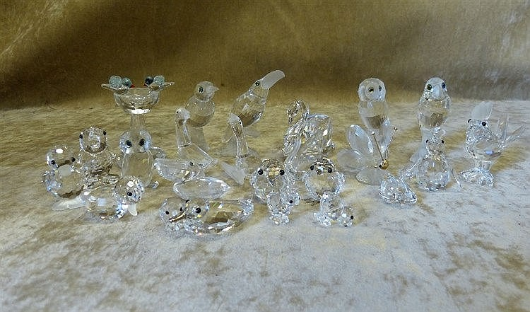 24 x Swarovski Crystal Birds and Butterflies