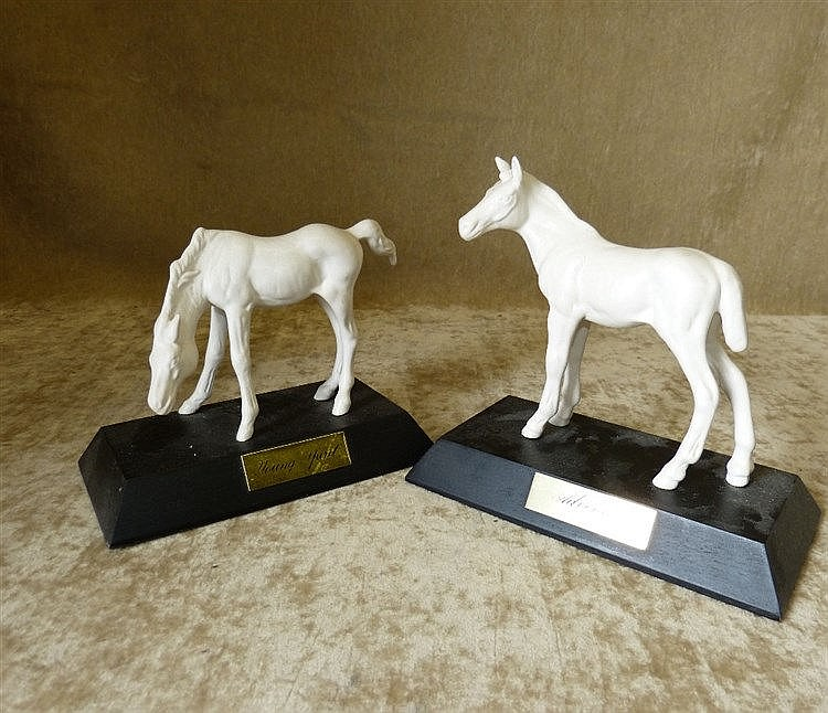 2 Beswick and Doulton White China Figures of Horses