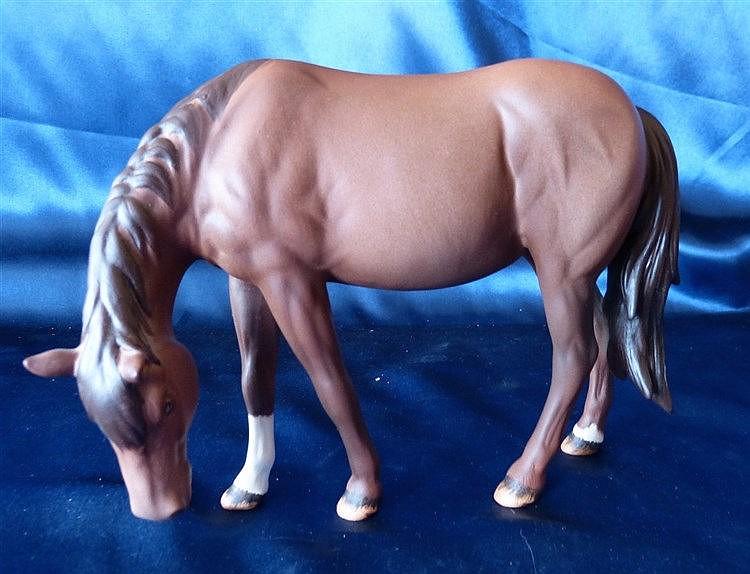 A Beswick Brown Matt Figure of a Horse, 14.5cm high