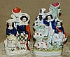 A 19th Century Staffordshire Spill Vase Group of Seated Lady and